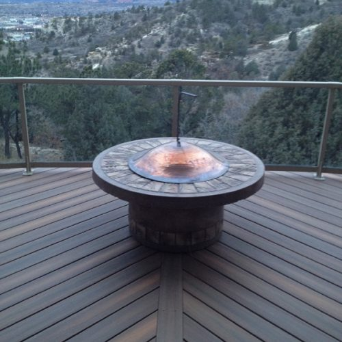 firepit, Fiberon Ipe decking, University Park