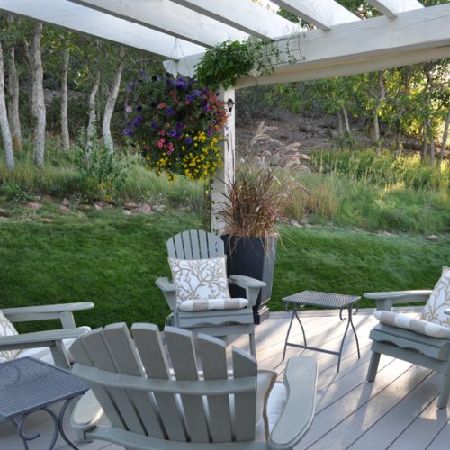 Azek decking, pergola, Pinecliff