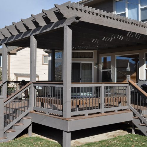 firberon ipe decking, custom wood pergola, Kettle Creek