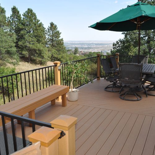 Evergrain decking, Fortress railing, Broadmoor Bluffs
