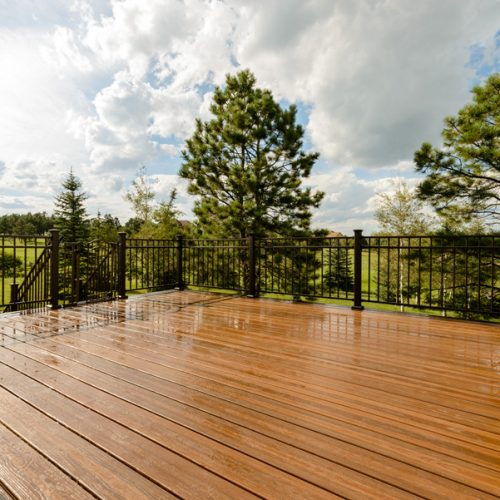 Evergrain decking, Fortress railing, Black Forest